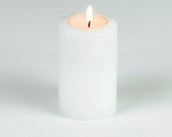 LUX_emotions_classic_white_6cm_SiN_Teelichthalter_Dauerkerze_Kerzenform_Teelichtkerzen