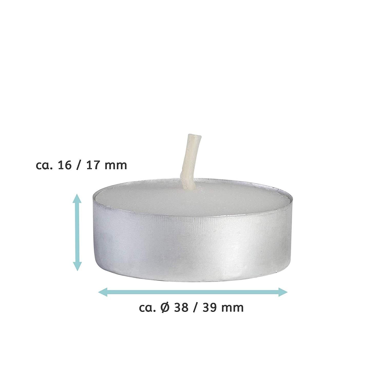 teelichter wei mit alucup sin teelichthalter. Black Bedroom Furniture Sets. Home Design Ideas