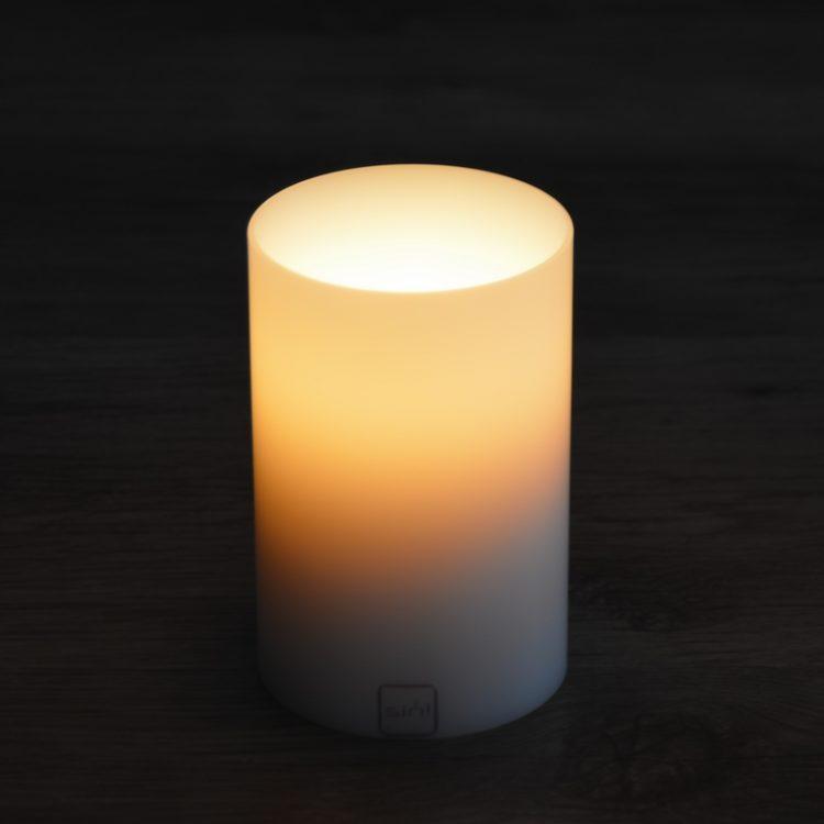 SiN! Teelichthalter Insert 8 cm weiss in Kerzenform, Dauerkerze mit Teelicht, Teelichtkerze in Kerzenoptik und Kerzenform, Kunststoffkerze mit Teelichteinsatz - inkl. Teelicht
