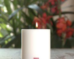 SiN! Teelichthalter Trend 8 cm weiss | Dauerkerze, Teelichtkerze, Kunststoffkerze mit Teelichteinsatz | künstliche Kerze mit Teelicht in Kerzenform & Kerzenoptik