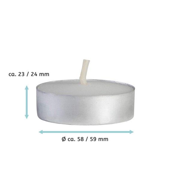 SiN! Maxi Teelicht für Teelichthalter in Kerzenform, Dauerkerze mit Teelicht, Teelichtkerze in Kerzenoptik und Kerzenform, Kunststoffkerze mit Teelichteinsatz - inkl. Teelicht