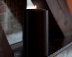 SiN! Teelichthalter Black Classic   Dauerkerze, Teelichtkerze, Kunststoffkerze mit Teelichteinsatz   künstliche Kerze mit Teelicht in Kerzenform & Kerzenoptik