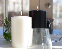 SiN! Teelichthalter Back Classic | Dauerkerze, Teelichtkerze, Kunststoffkerze mit Teelichteinsatz | künstliche Kerze mit Teelicht in Kerzenform & Kerzenoptik