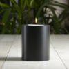LUX Teelichthalter in Kerzenform Trend<br>schwarz ∅ 10 cm