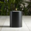 SiN! Teelichthalter Black Trend 10 cm schwarz in Kerzenform, Dauerkerze mit Teelicht, Teelichtkerze in Kerzenoptik und Kerzenform, Kunststoffkerze mit Teelichteinsatz - inkl. Teelicht