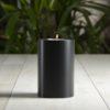 SiN! Teelichthalter Black Trend 8 cm schwarz in Kerzenform, Dauerkerze mit Teelicht, Teelichtkerze in Kerzenoptik und Kerzenform, Kunststoffkerze mit Teelichteinsatz - inkl. Teelicht