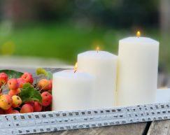 SiN! Teelichthalter Classic weiss | Dauerkerze, Teelichtkerze, Kunststoffkerze mit Teelichteinsatz | künstliche Kerze mit Teelicht in Kerzenform & Kerzenoptik