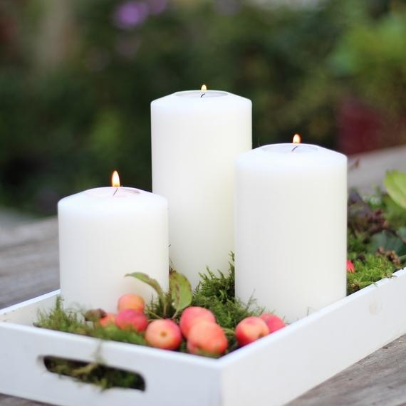 SiN! Teelichthalter Classic in Kerzenform, Dauerkerze mit Teelicht, Teelichtkerze in Kerzenoptik und Kerzenform, Kunststoffkerze mit Teelichteinsatz - inkl. Teelicht