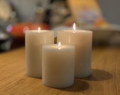 SiN! Teelichthalter Trend | Dauerkerze, Teelichtkerze, Kunststoffkerze mit Teelichteinsatz | künstliche Kerze mit Teelicht in Kerzenform & Kerzenoptik